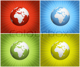 illustrated color planet earth