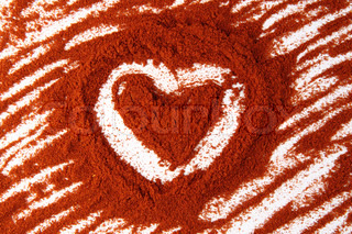 valentine heart from the hot red spice