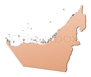 United Arab Emirates light brown map