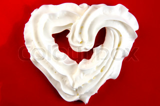 nice valentine heart from the sweet creme