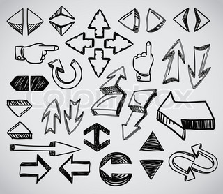 Hand-drawn arrows collection