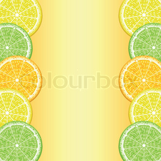 The frame of the lobes of lemon, orange and lime