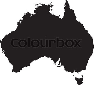 Vector illustration of maps of Australia