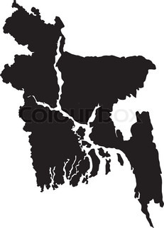 Vector illustration of maps of Bangladesh