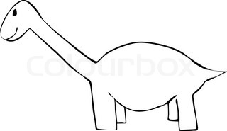Childrens drawing of a dinosaur