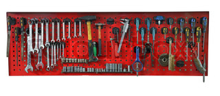 Set of the working tools Isolated on white background