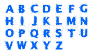 Water alphabet. Capital letters