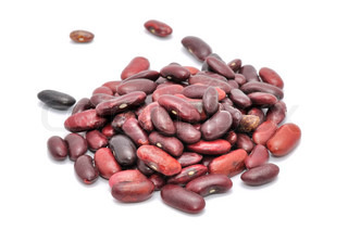 Red Kidney Beans Isolated on White Background