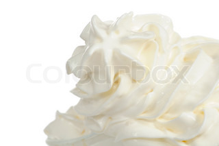 Soft Vanilla Ice-Cream on White Background