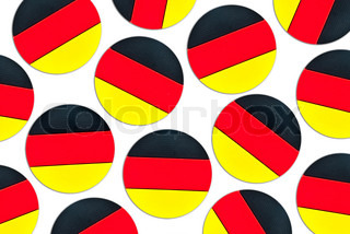 german flag concept on a white background