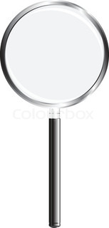 A magnifying glass applied to criminalistics, science and everyday life Vector illustration
