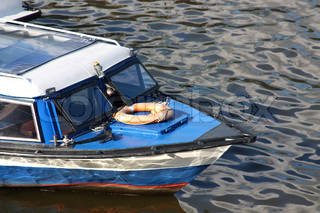 Bow of rescue boat on the river