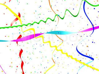 abstrakt aus einer Serpentine und Konfetti