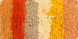photo of spices background, closeup
