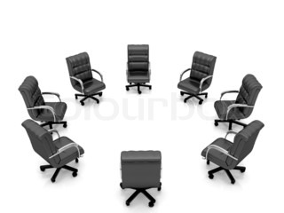 High resolution image office armchair 3d illustration over