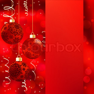 Background with stars and Christmas balls