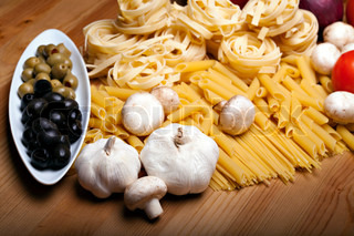 Cooking with fresh italian ingredients
