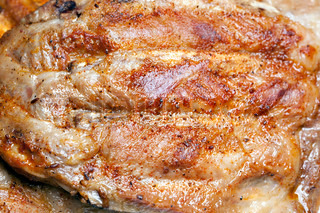 Grilled pork ribs, spicy and delicious
