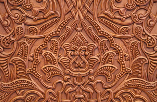 Beautiful carvings in the Grand Mosque in Muscat, Oman