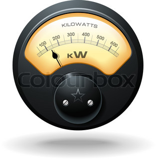 Analog Electrical Hydro Power Meter