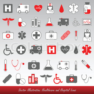 Medical icons and symbols healthcare