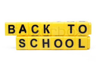 An image of yellow bricks with words ''back to school'' on them
