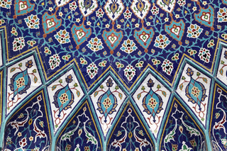 Oriental mosaic inside of the Grand Mosque, Muscat Sultanate of Oman