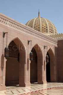Grand Mosque in Muscat, Sultanate of Oman