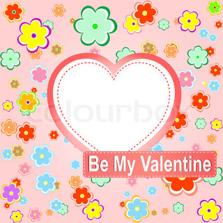 be my valentine scrapbook flower background with heart