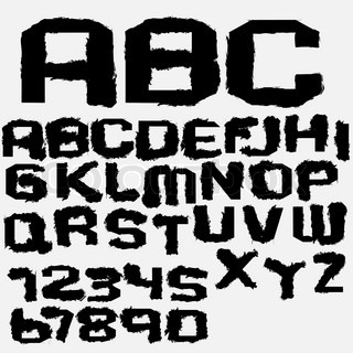 Vector ink alphabet
