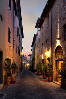 San Quirico d'Orcia An ancient town in the Italian Tuscany