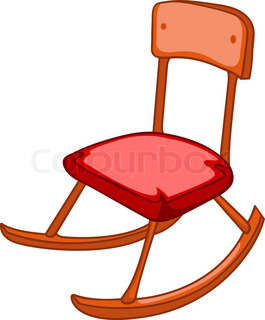 Cartoon Home Furniture Chair Isolated on White Background