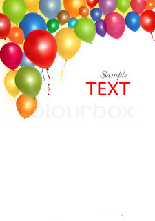 Balloons frame composition with space for your text. Vector illustration
