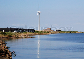Wind Turbine By the Coast