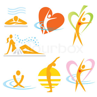Yoga spa icons