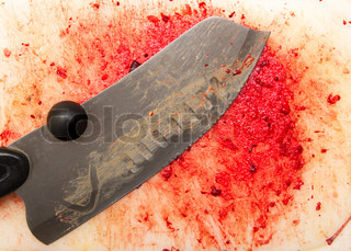 bloody background with a knife