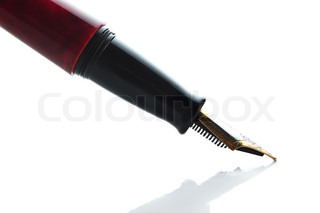 Writing pen isolated on a white background