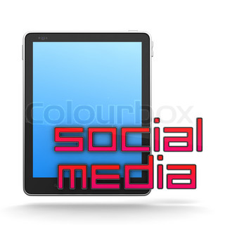 Social Media Concept Isolated on White