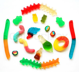 Colorful different Jelly Candy can use as sweet background