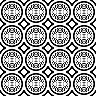 Seamless pattern with fancy design.  Vector art.