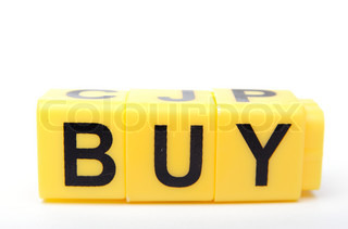 An image of yellow bricks with word ''buy'' on them