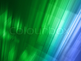 Abstract light blue and green luminous background with rays