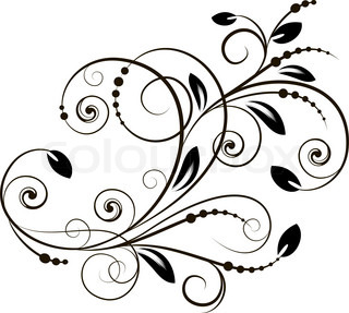 Abstract background with decorative branch. Vector illustration.