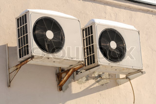 Outdoor Units of Air Conditioner on the Wall