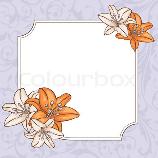 abstract floral card vector illustration