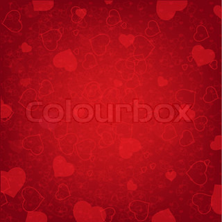 Valentines Day Background With Heart And Blur, Vector Illustration