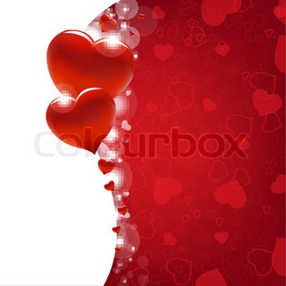 Valentines Day Card With Heart And Blur, Vector Illustration