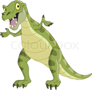 Vector illustration of a T-Rex presenting