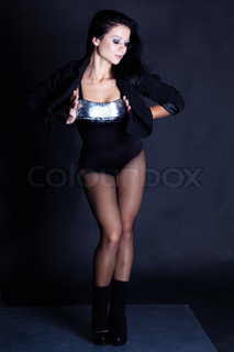 Beautiful girl with perfect body shooted in studio