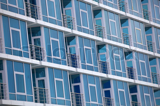 Architecture forms in blue color